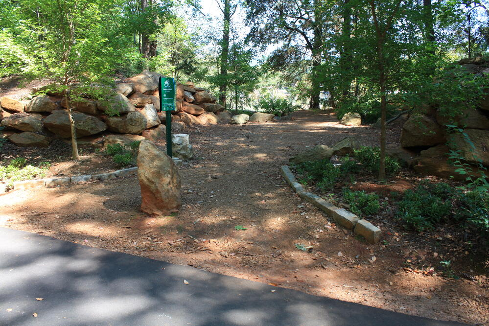 Access to Furman from Swamp Rabbit