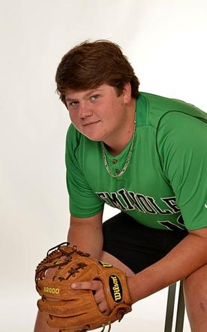 "Payton ""Scooby"" Bishop with baseball glove"