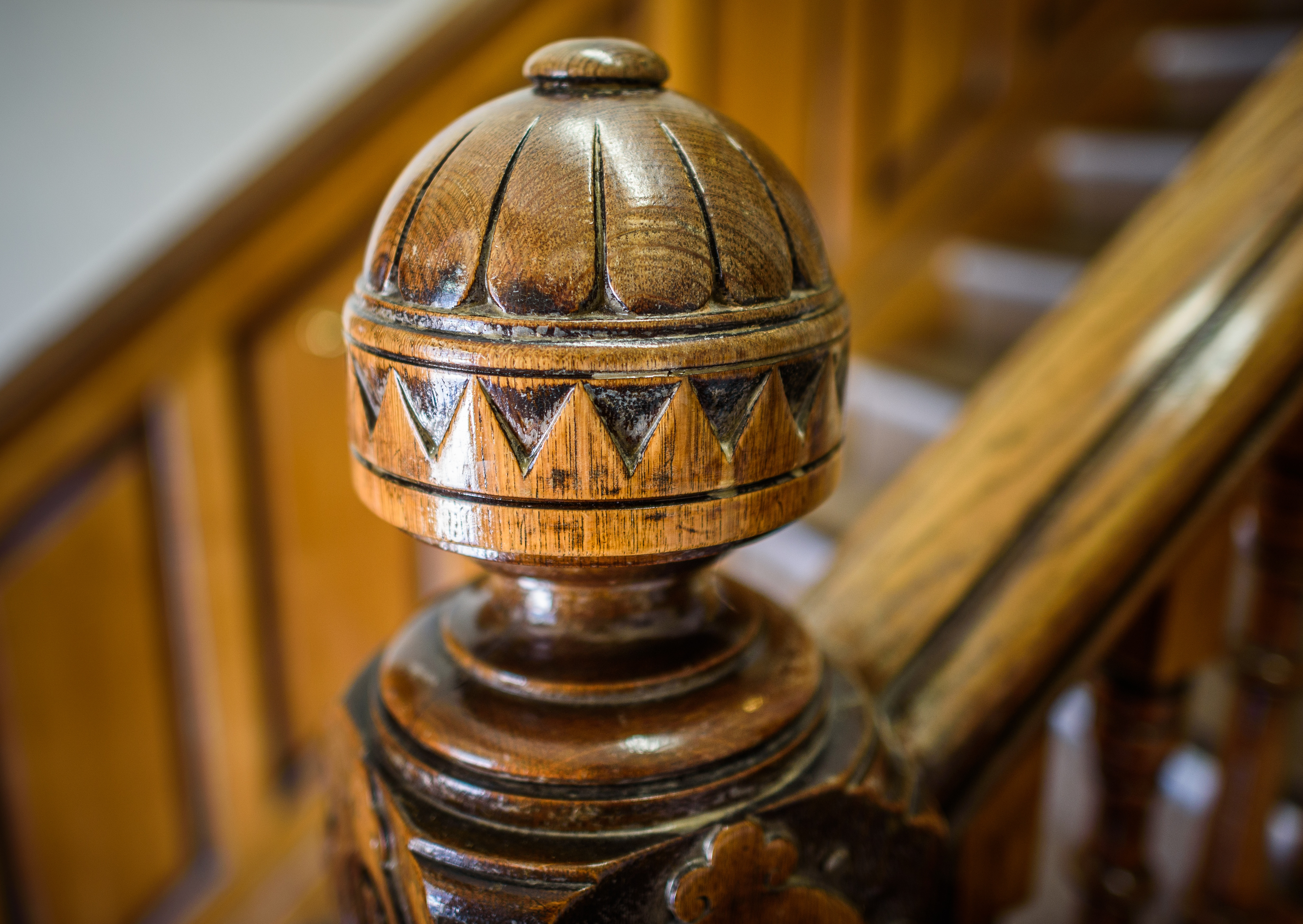 reclaimed newel post staircase