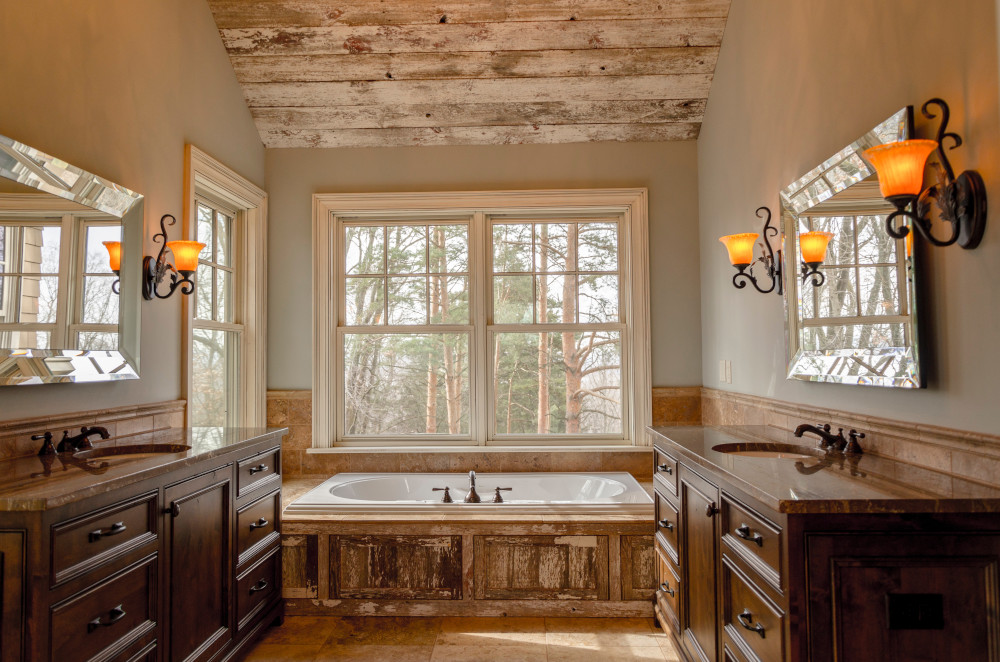 recycled wood bathroom