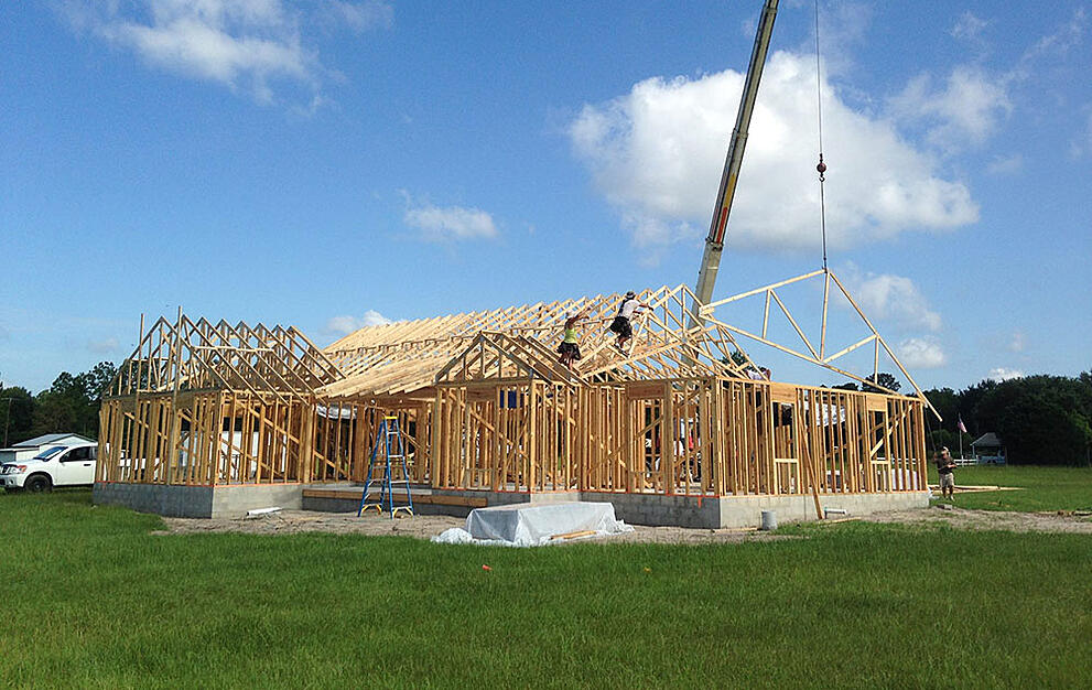 Framing Bradford County House