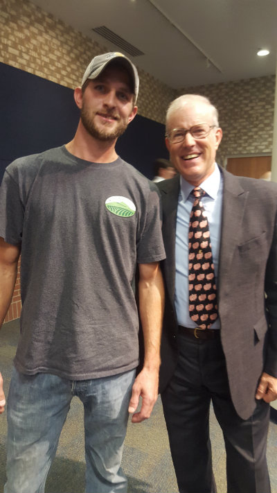 Nick Ball and Joel Salatin