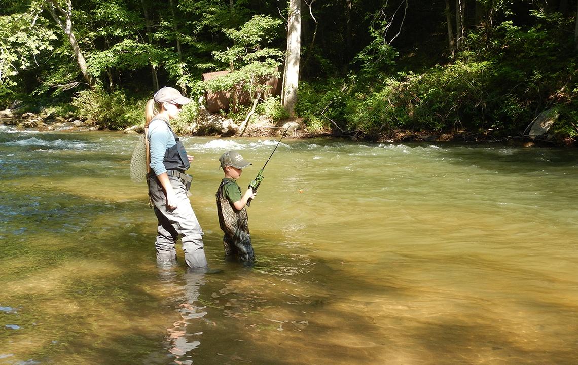 Mom Fishing With Child.jpg