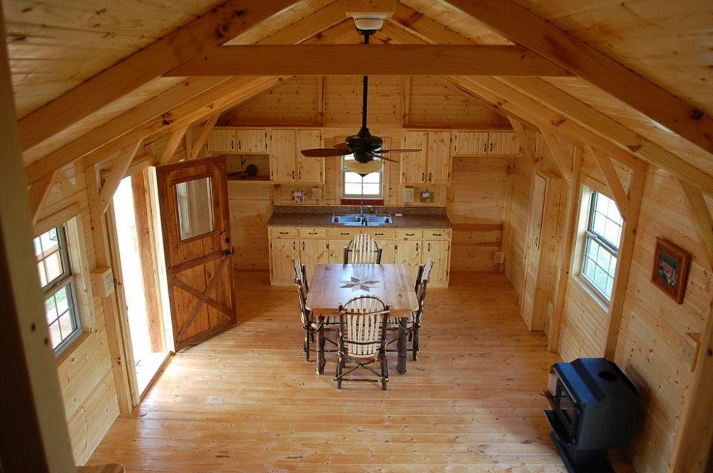 Inside Amish Cabin Kit House