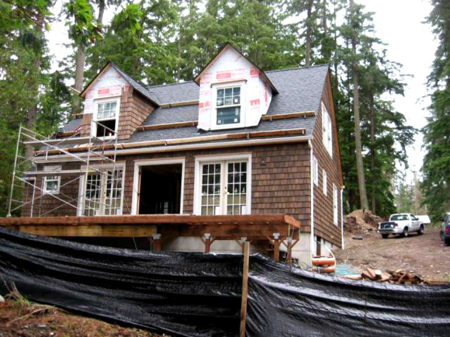 Shelter Kit House Under Construction
