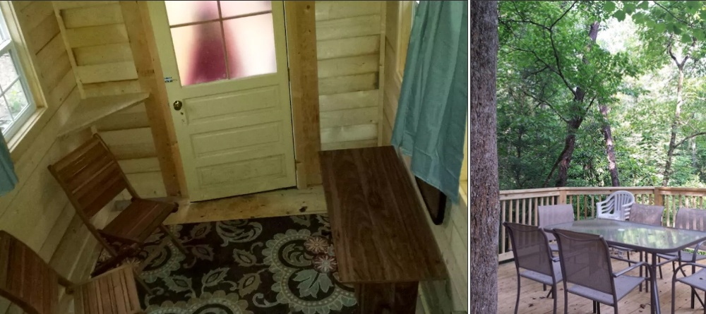 Off Grid Treehouse Rental Inside
