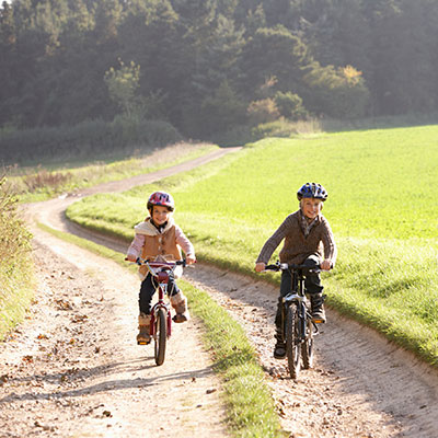 Ride bikes for free play