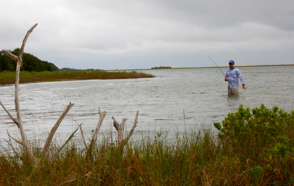 Justin Carter on flyfishing charter