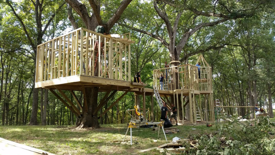 diy network treehouse by tree top builders