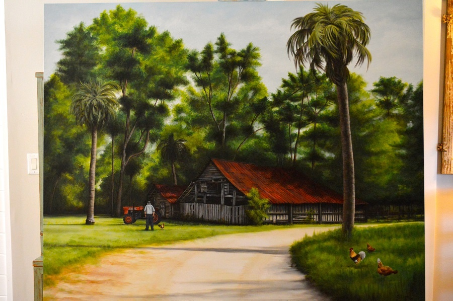 country life artist paints for sunbelt a expo