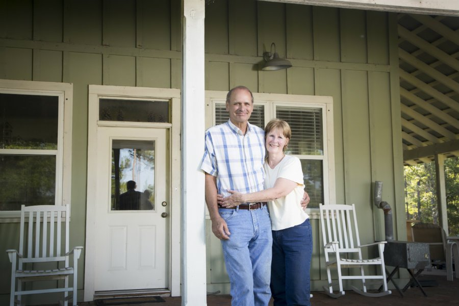 Patrick McCarthy and Janis McCarthy built their home on timberland