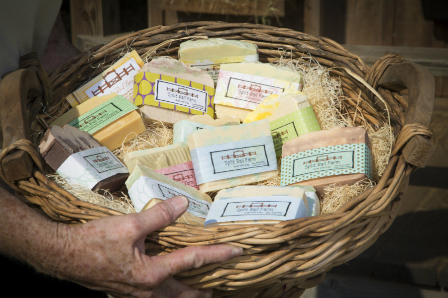 the goat milk is used to make natural soaps