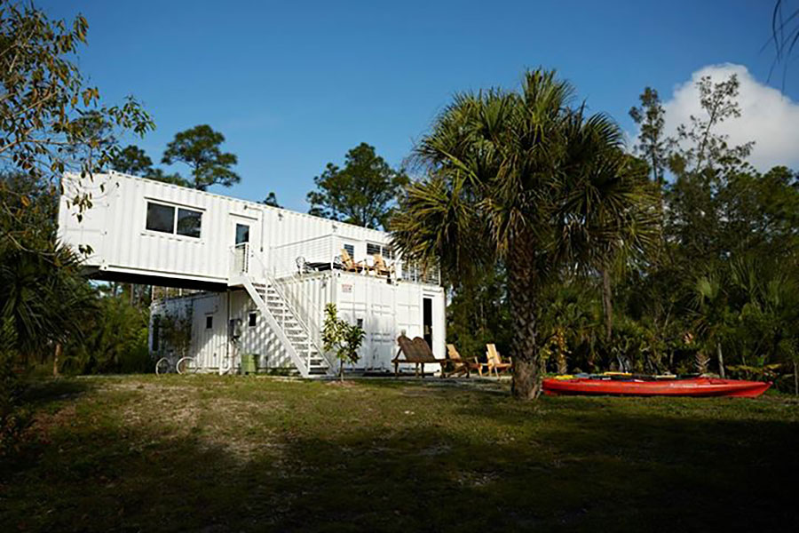 Jupiter Florida shipping containers turned into cozy motel
