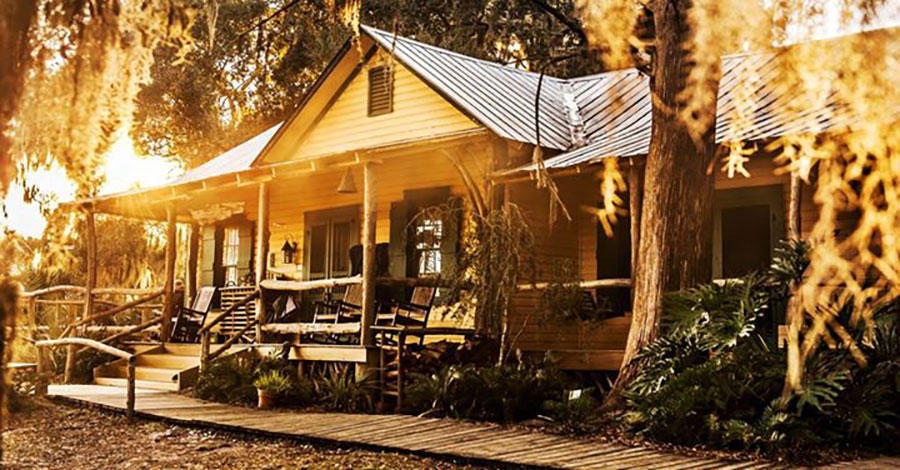 The hunting lodge at Little St. Simons Island