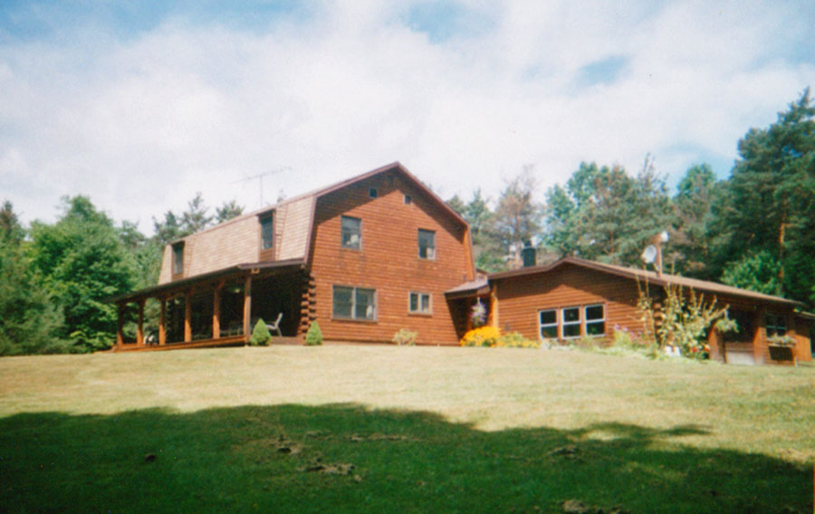 Log house in the country