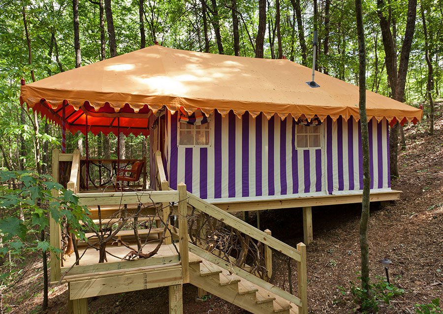 The Martyn House offers high end bungalow sleeping tents