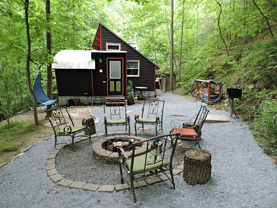 Go glamping in the woods