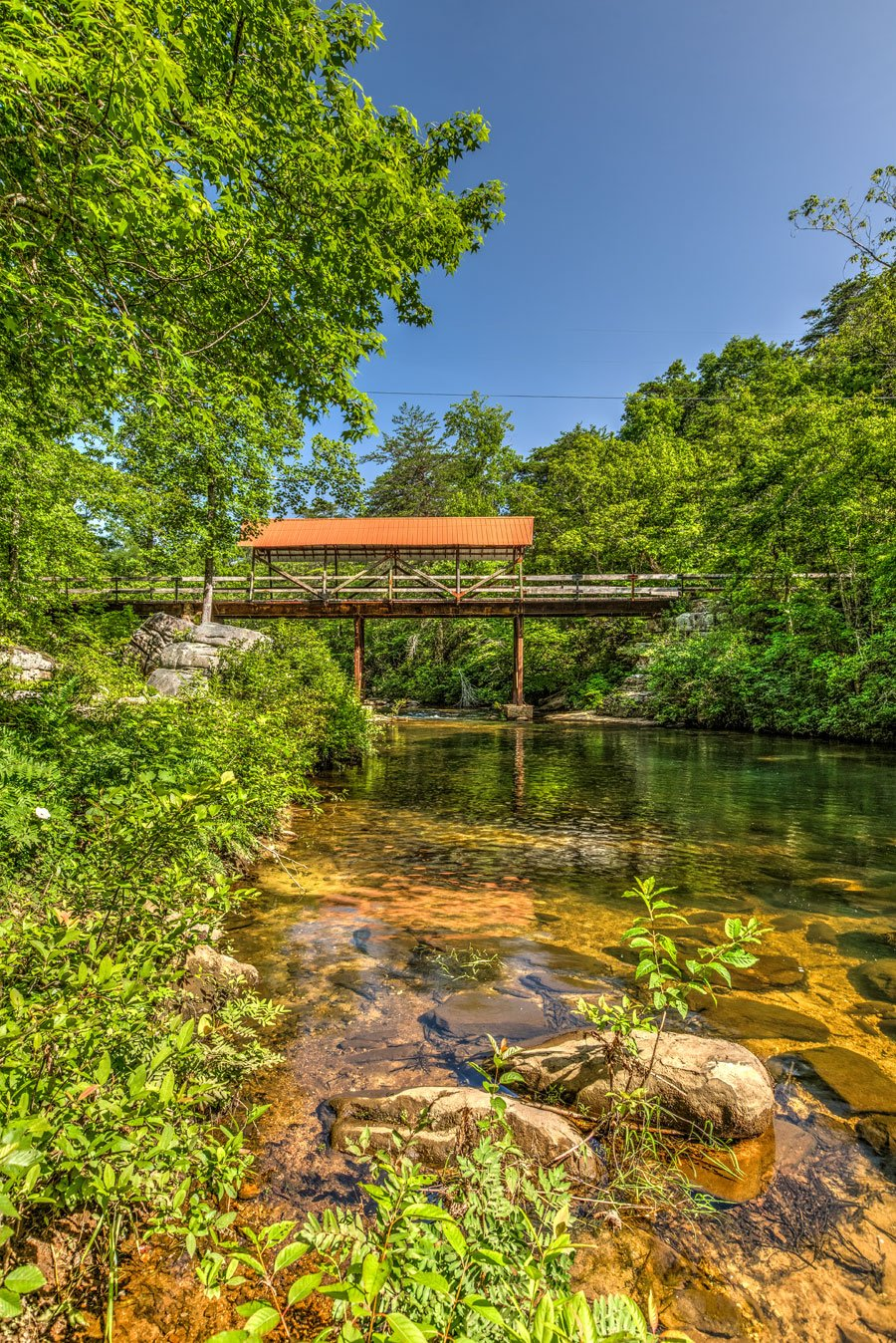 Old Union Covered Bridge Mentone Alabama