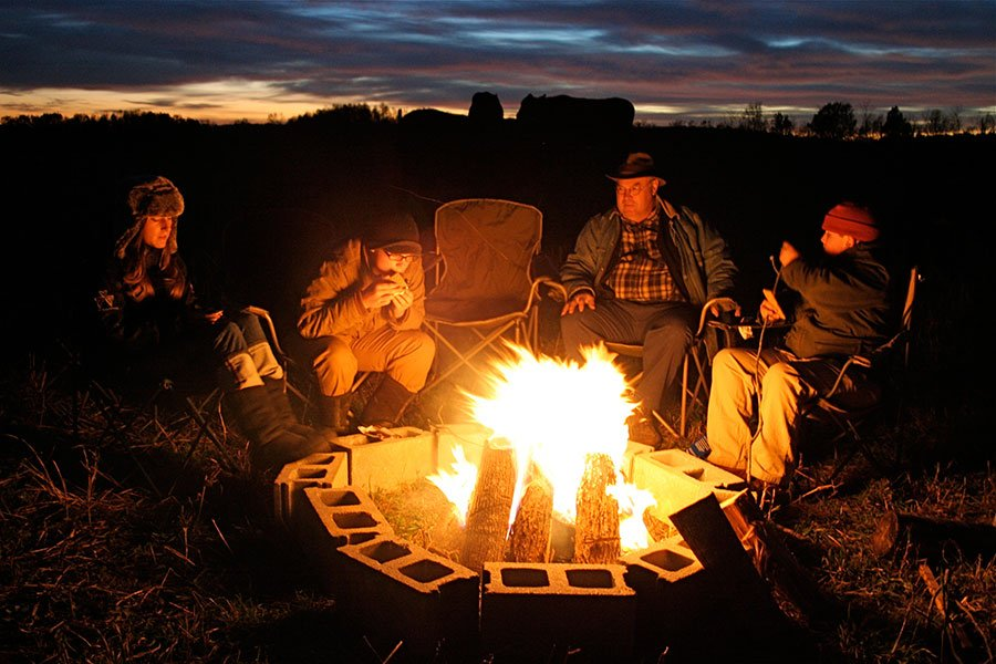 Pond family campout
