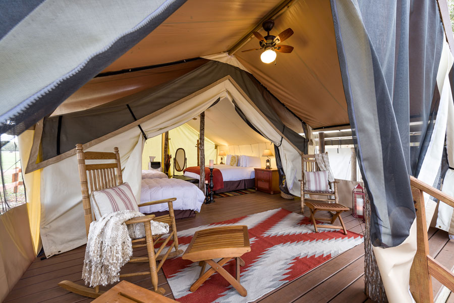 Westgate River Ranch luxury glamping tent in River Ranch, FL