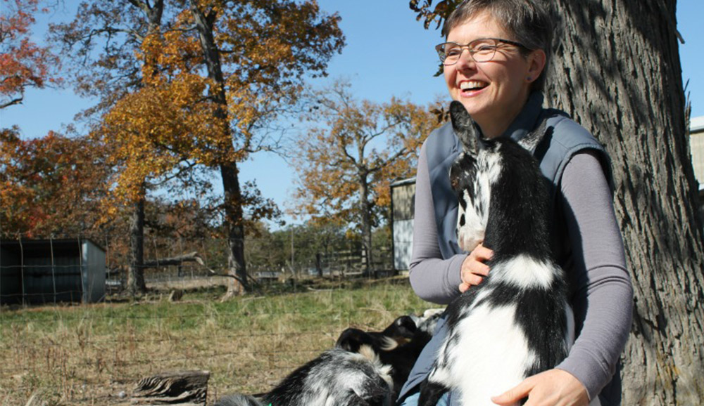 Deborah Niemann and her goats