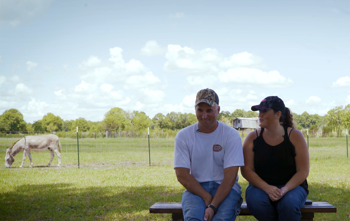 Affordability and Freedom Made Country Life Right for Military Couple