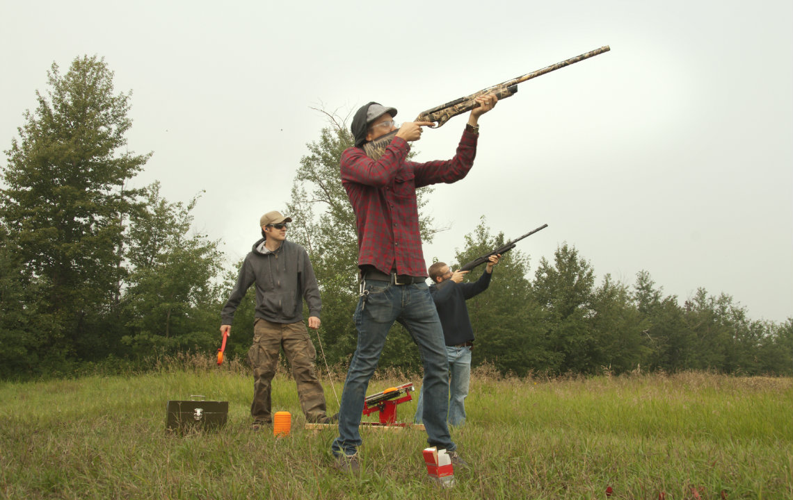 Is sporting clays like golf with a gun?