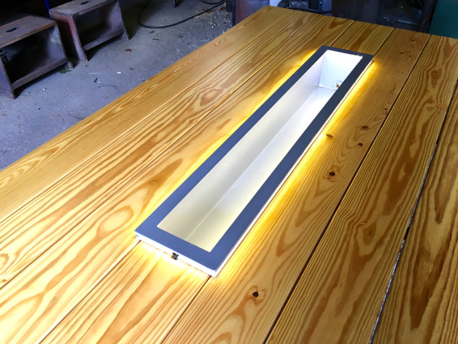 Lighting in Ultimate Picnic Table