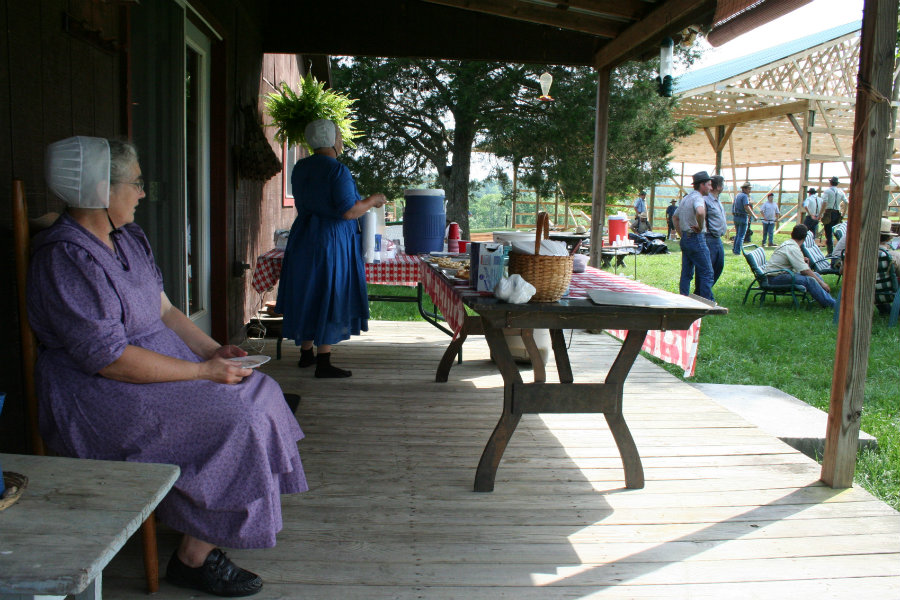 An old order mennonite frolic is like a barn raising