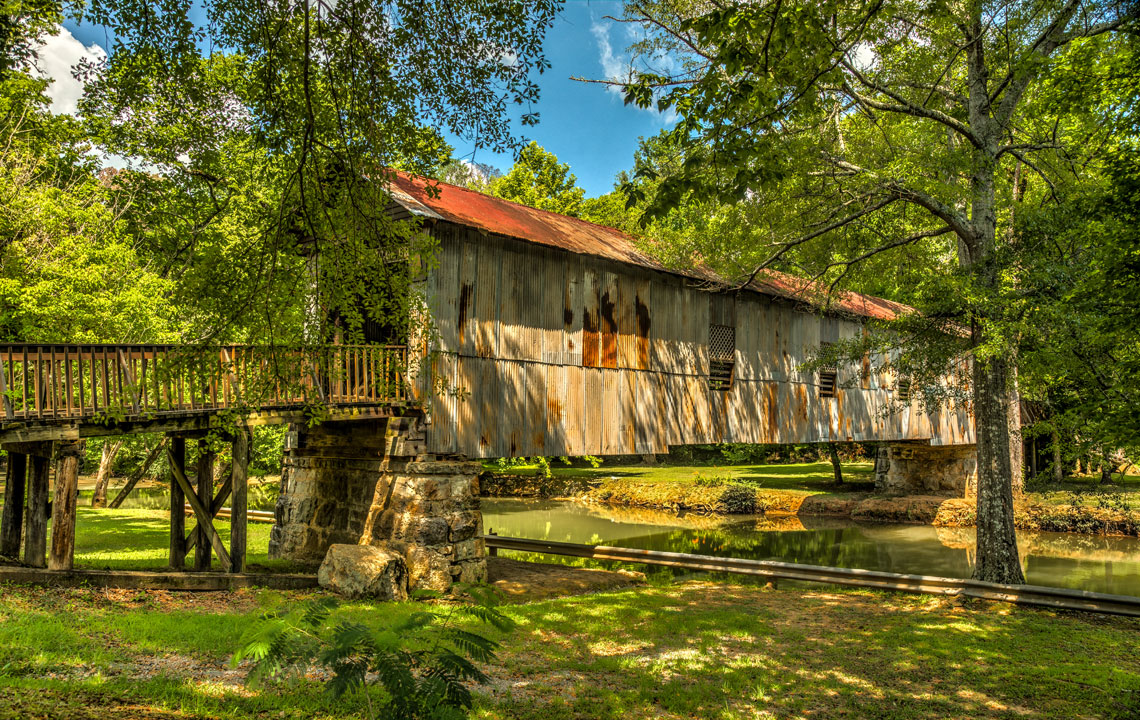 The covered bridges in Alabama