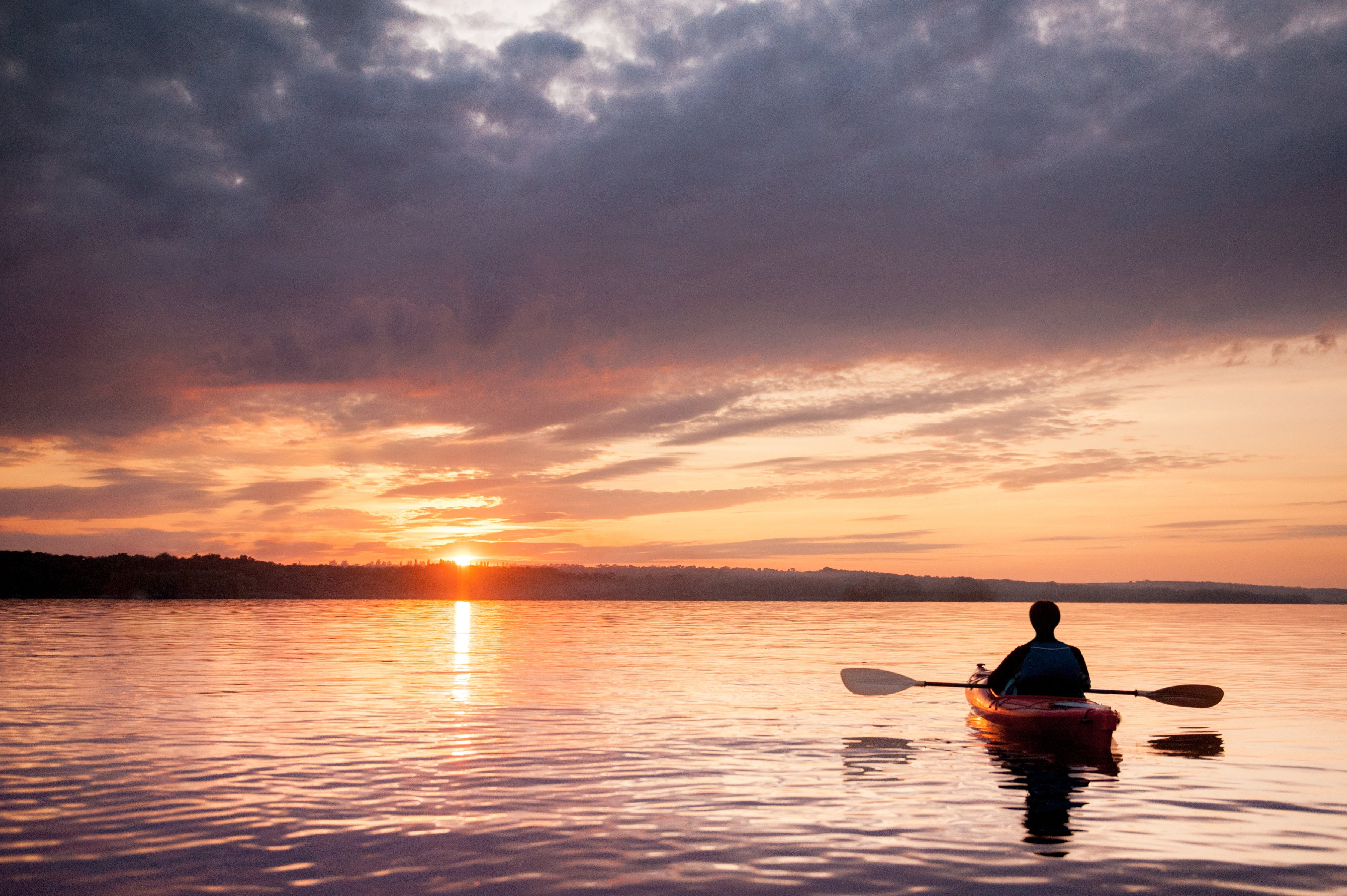 Social Distancing in a Kayak